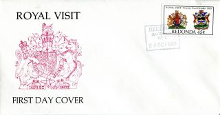 24 October 1985 Antigua Redonda Royal Visit First Day Cover photo