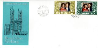 Dominica 20 November 1972 Royal Silver Wedding Official First Day Cover Cds photo