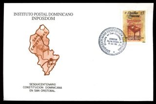 Dominican Republic 1994,  150th Anniv Of 1st Constitution Fdc C5471 photo