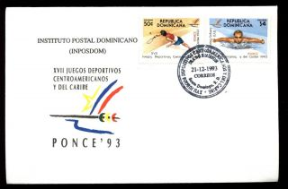 Dominican Republic 1993,  Central American & Caribbean Games,  Sports Fdc C5472 photo
