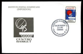 Dominican Republic 1995,  Basketball Championships Fdc C5479 photo
