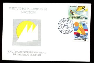 Dominican Republic 1996 Dinghy Sailing Championships Fdc C5481 photo