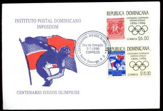 Dominican Republic 1996 Olympic Games Fdc C5483 photo