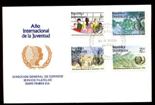 Dominican Republic 1985 Int.  Youth Year Fdc C5484 photo