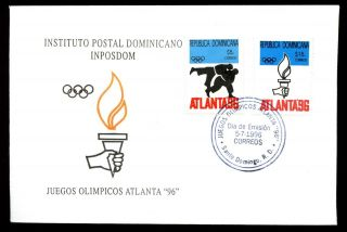 Dominican Republic 1996 Olympic Games Fdc C5490 photo
