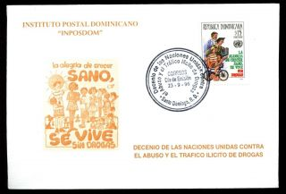 Dominican Republic 1996 Drug Trafficking Fdc C5491 photo