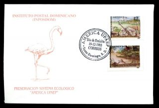 Dominican Republic 1995 Enviromental Protection,  Birds Fdc C5499 photo