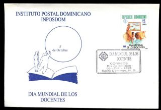 Dominican Republic 1999,  Teachers Day Fdc C5503 photo