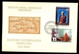 Dominican Republic 1999,  President Juan Bosch Fdc C5504 photo
