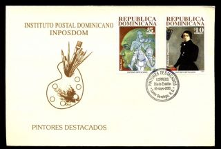 Dominican Republic 2000 Art Fdc C5508 photo