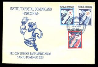 Dominican Republic 2003 Pan American Games Fdc C5509 photo