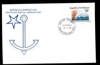 Dominican Republic 1989 Battle Of Tortuguero Fdc C5517 photo