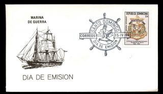 Dominican Republic 1980 Air,  Navy Day Fdc C5520 photo