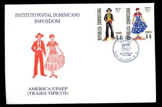 Dominican Republic 1996 Costumes Fdc C5523 photo