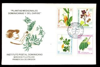 Dominican Republic 1986 Medicianal Plants Fdc C5533 photo