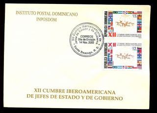 Dominican Republic 2002 Spanish American Summit Conference Fdc C5551 photo