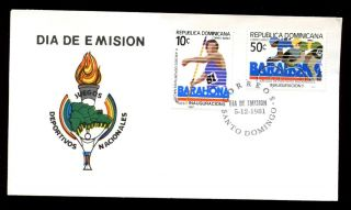 Dominican Republic 1981 National Games Sports Fdc C5552 photo