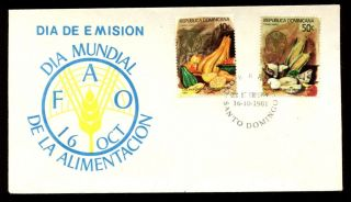 Dominican Republic 1981 World Food Day Fdc C5556 photo