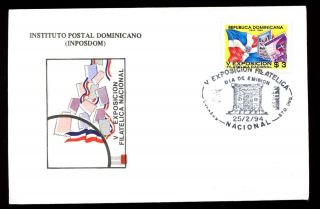 Dominican Republic 1994 National Stamp Exhibition Fdc C5557 photo