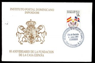 Dominican Republic 1997 Spanish House In Santo Domingo Fdc C5563 photo