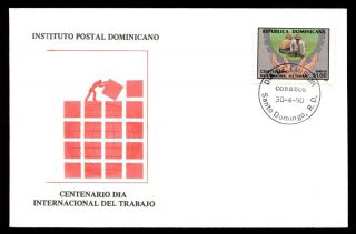 Dominican Republic 1990 Labour Day Fdc C5569 photo