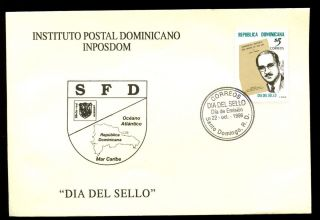 Dominican Republic 1999 Stamp Day Fdc C5571 photo