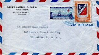 Dominican Republic 1950 Airmail Cover From Ingenio Amistad - - - Sugar Mill - - - photo