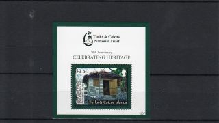 Turks & Caicos Islands 2012 National Trust 20th Anniv 1 V S/s Heritage Slave photo
