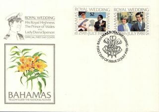 (52214) Fdc Bahamas - Princess Diana Wedding 1981 photo