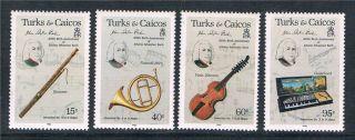 Turks & Caicos 1985 Johann Bach Sg 863/6 photo