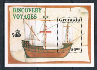 Grenada 1991 Discovery Of America Ms Sg 2230a photo