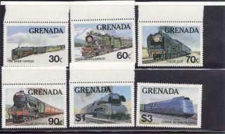 Grenada 1982 Trains Scott 1120 - 25 photo