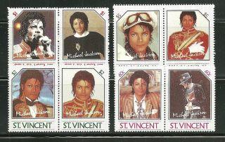 St Vincent 894 - 97 Michael Jackson Reprints photo