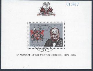 Haiti 1968 Sg Ms1123 Churchill Commemoration Mini Sheet Cto A 013 photo