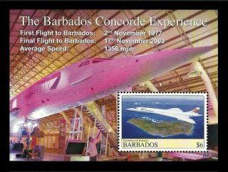 Barbados 2008 Aircraft Concorde M/sheet photo