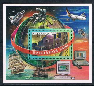 Barbados 2000 Millenium M.  S.  Sg1152 photo