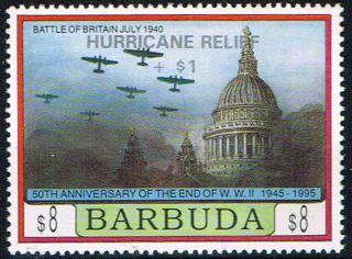 Barbuda 1995 Hurricane Relief $8 Sg1666 Pristine photo