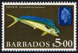 Barbados 1969 $5 Sg355a Fine & Fresh Lmm photo