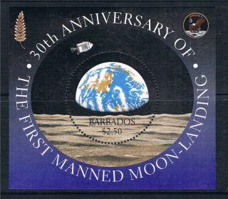 Barbados 1999 Anniv.  Of Moon Landing M.  S.  Sg1142 photo