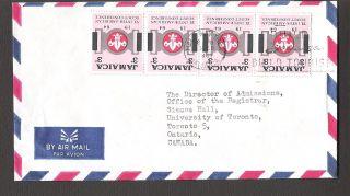 Half Way Tree Jamaica To University Of Toronto Canada 1964 Air Mail photo
