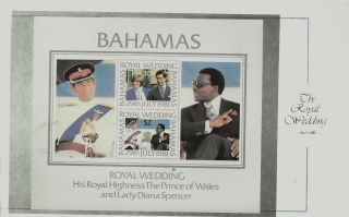 Bahamas M/s Charles And Diana 1981 Royal Wedding photo