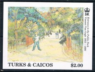 Turks & Caicos Is 1991 Vincent Van Gogh Ms Sg 1126b photo