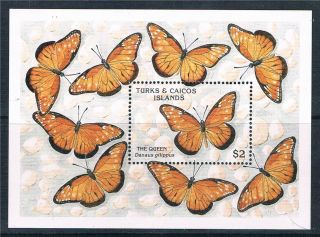 Turks & Caicos Is 1990 Butterflies Ms Sg 1027b photo