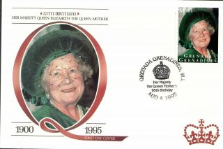 (18074e) Fdc Queen Mother 95th Birthday - Grenada Grenadines 1995 photo