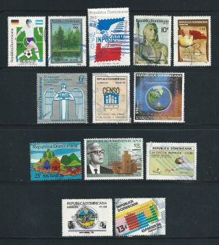 Dominican Republic - - 13 Different Commemoratives From 1980s & 1990s photo