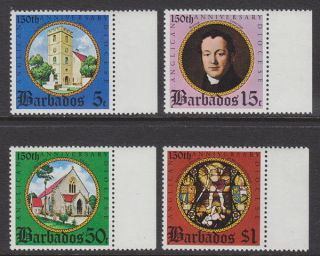 Barbados - 1975 Anglican Diocese (4v) Um / photo