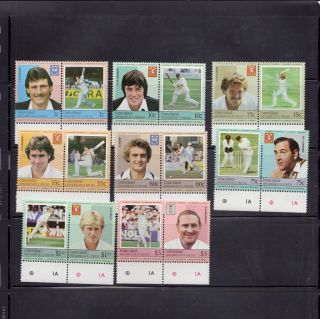 Union Islands,  St Vincent Grenadines 1984 Cricket Players Scott 126 - 33 photo