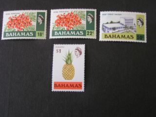 Bahamas,  Scott 325 - 328 (4) 18c+22c+50c+$1.  00 Values 1971 Local Scenes Mvlh photo