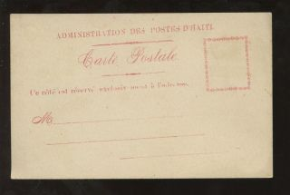 Haiti C1900 Official Postcard Admin Des Postes photo