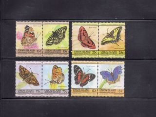Union Island St Vincent Grenadines 1985 Butterflies Scott 194 - 97 photo